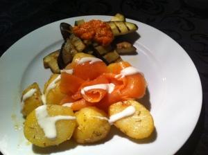 Gezond eten, aardappel salade